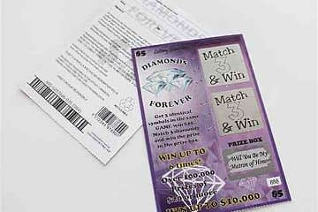 Fake Lottery Replica Scratch Card