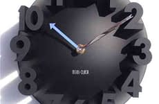 3d Digital Modern Wall Clock