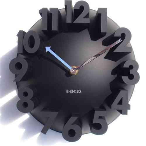 3d Digital Modern Wall Clock