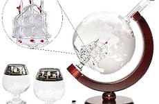 Globe Whiskey Decanter Set