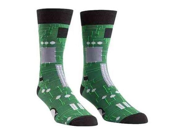 Circuit Board Mens Crew Socks