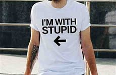 I'm With Stupid T Shirt Cool
